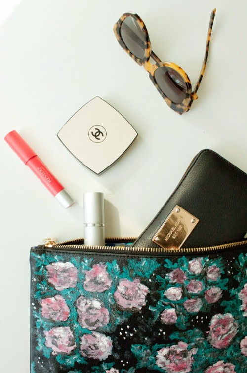 Diy Givenchy Inspired Floral Clutch