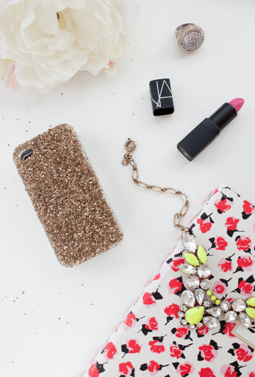 DIY Glam Glass Glitter Phone Case