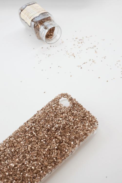 Diy Glam Glass Glitter Phone Case
