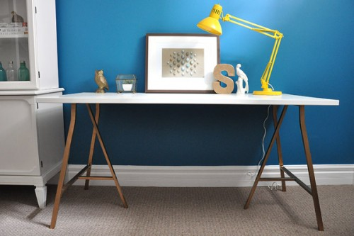 DIY Glamour Trestle Desk
