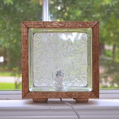 Diy Glass Block Nightlight In Wood