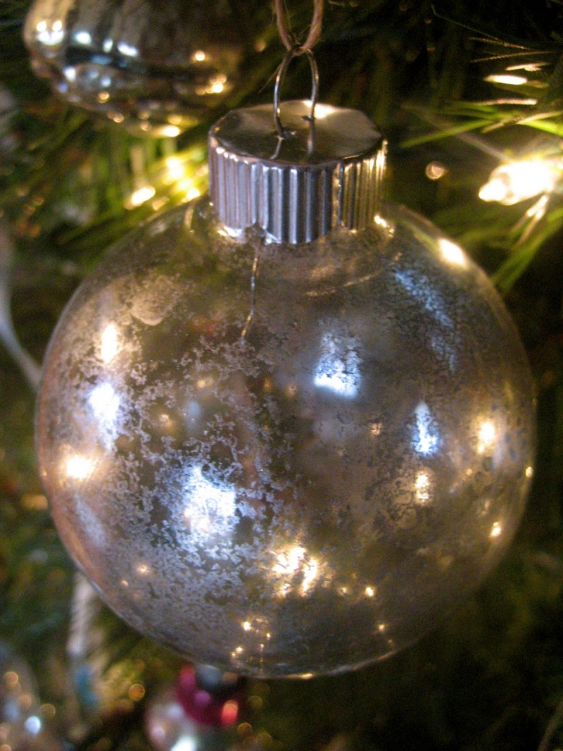 Picture of diy glass christmas tree ornaments