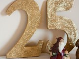glitter Christmas numbers