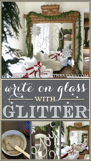 writing with glitter (via victoriaelizabethbarnes)