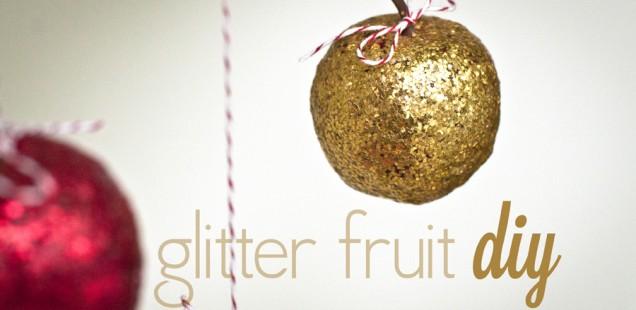 glitter fruit decorations