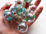 vintage-style glitter ornaments