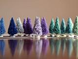 glitter bottle brush trees