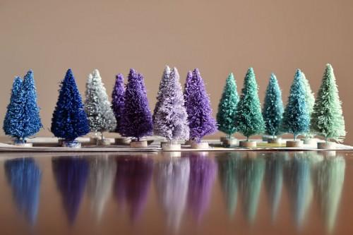 glitter bottle brush trees (via brepea)