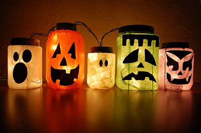 DIY Glowing Monster Jars photo