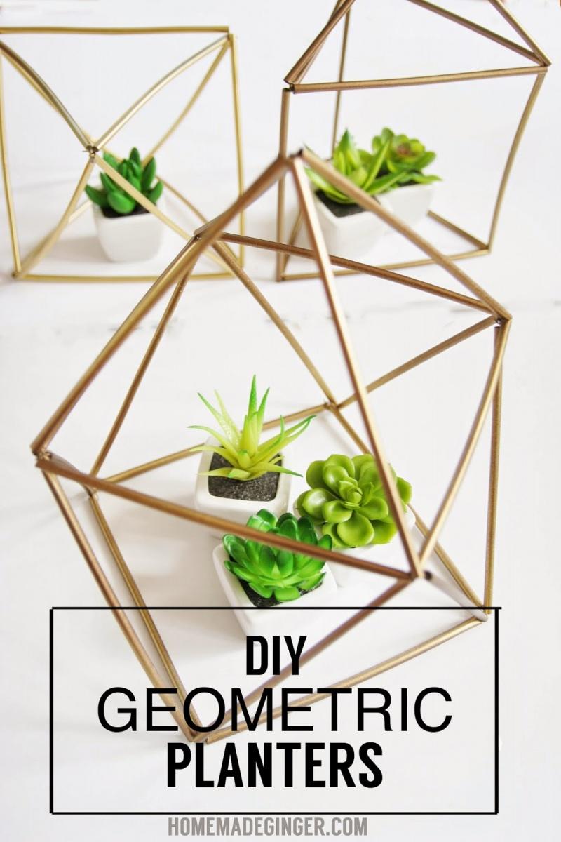 geometric gold planters