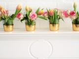 gold leaf vases or votives
