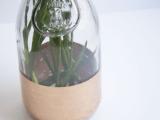 gold one-step vase