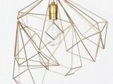 geometric gold lampshade