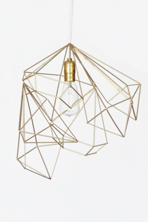 geometric gold lampshade (via freeseries)
