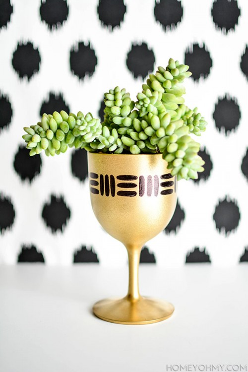 gold planter (via shelterness)