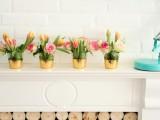 Diy Gold Leaf Vases Or Votives For Decor