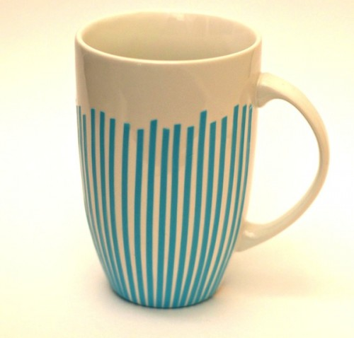 Diy Gold Striped Mug As A Holiday Gift