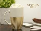 Diy Gold Striped Mug As A Holiday Gift