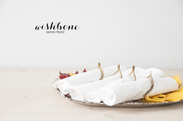 Diy Gold Wishbone Napkin Rings