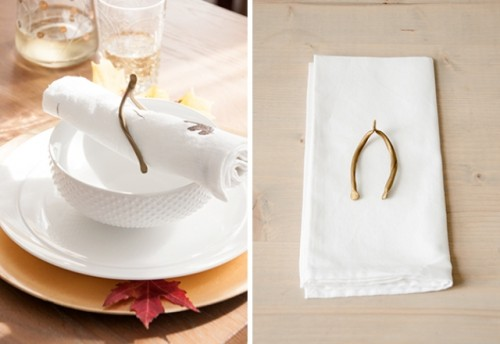 Diy Gold Wishbone Napkin Rings