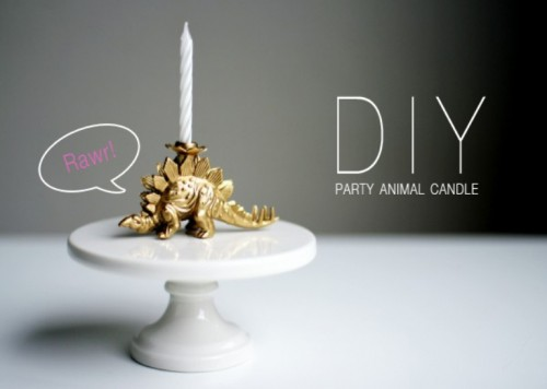 DIY Golden Animal Candleholders For Parties