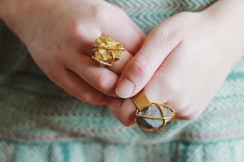 Diy Golden Stone Ring