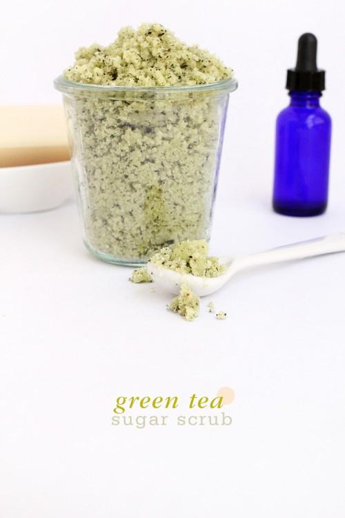 DIY Green Tea Sugar Body Scrub