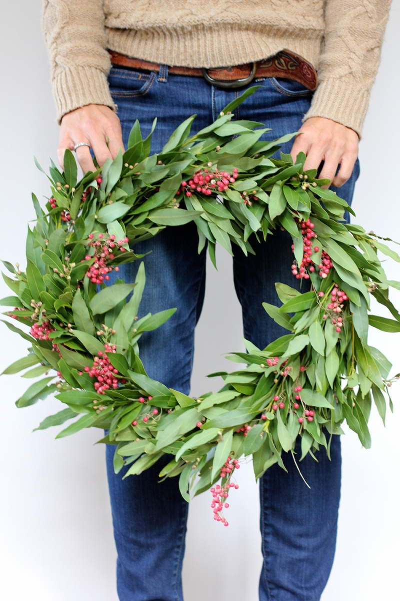 simple holly wreath