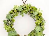 succulent wreath (via apartmenttherapy)