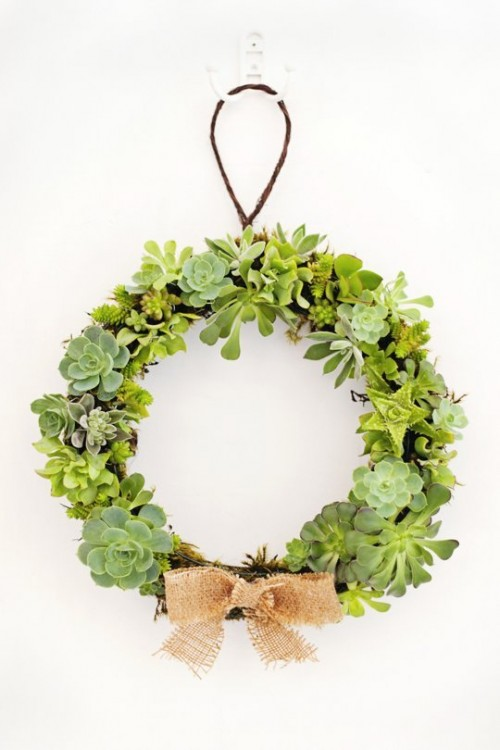 succulent wreath (via apartmenttherapy)