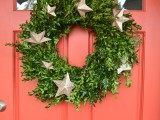 greenery and star wreath