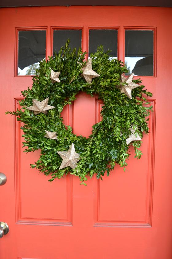 greenery and star wreath