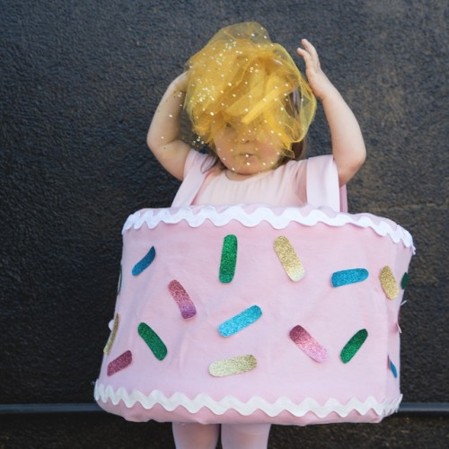DIY Birthday Cake Halloween Costume For Girls