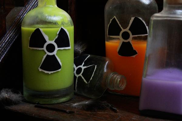 outdoor radioactive jars