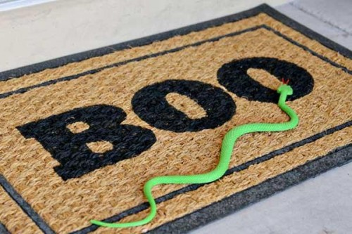 Halloween doormat (via celebrations)