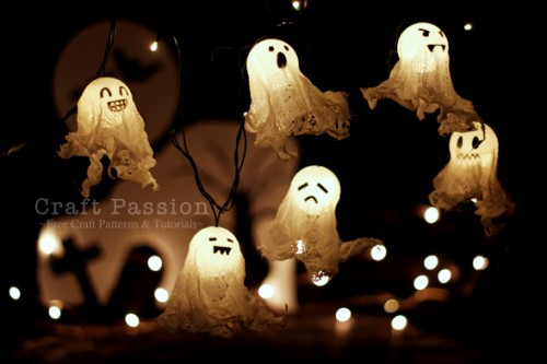 DIY Halloween Ghost Lights
