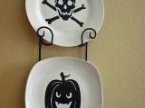 Diy Halloween Plate Decor