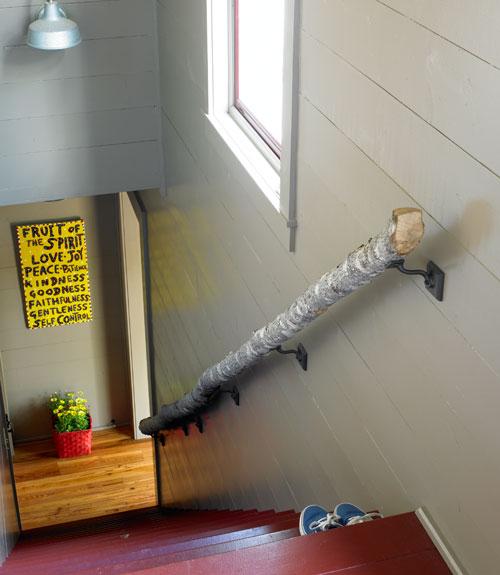 Diy Handrail From A Log