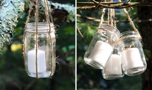 Diy hanging candle lanterns for outdoors shelterness for Hanging candles diy