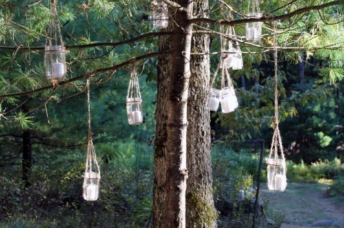 DIY Hanging Candle Lanterns For Outdoors