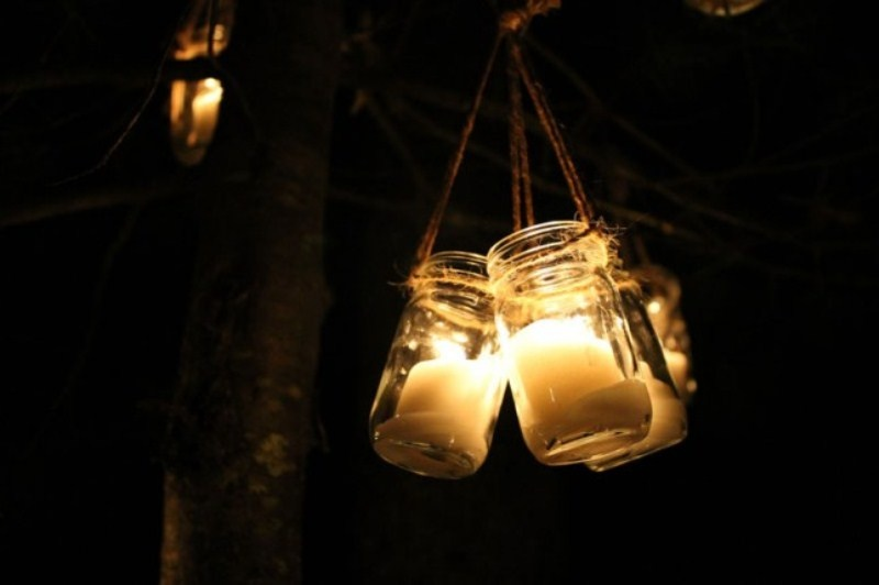 Picture of diy hanging candle lanterns for outdoors 7 for Hanging candles diy