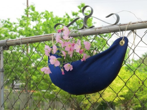 DIY Hanging Felt Planter For Perfect A Balcony