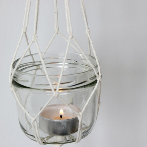 DIY Hanging Lanterns With Candles