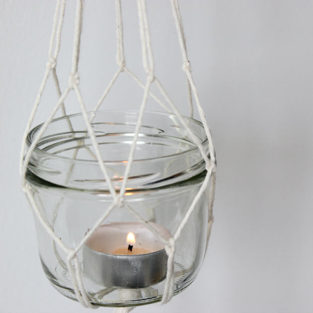 Picture of diy hanging lanterns with candles for Hanging candles diy