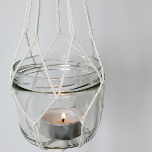 DIY Hanging Lanterns With Candles
