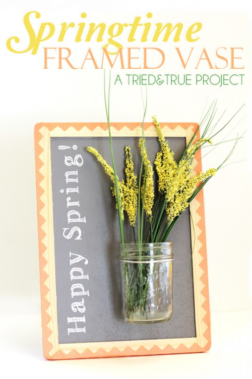 Inspiring DIY 'Happy Spring' Framed Vase