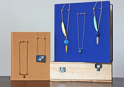 DIY Hardcover Necklace Holder