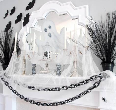 Diy Haunted Mirror On A Mantel