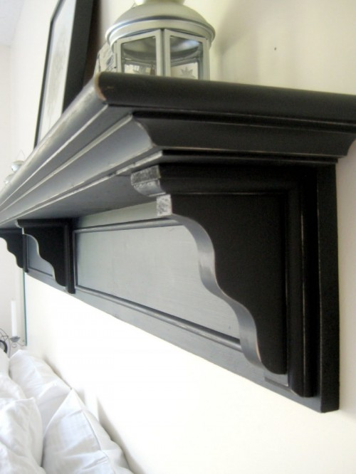 Diy Headboard Shelf