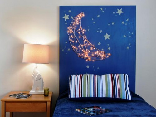 moon lights headboard